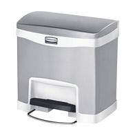 Acheter Poubelle Slim Jim Rubbermaid 15 L gris et blanc