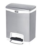 Acheter Poubelle Slim Jim Rubbermaid 30 L gris et blanc