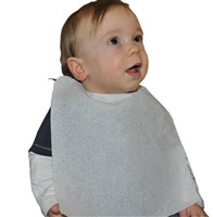 Acheter Bavoir jetable bébé ouate blanc 45gr/m2 petit modèle colis de 1000