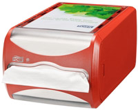 Acheter Distributeur Tork N4 serviette enchevetrees rouge