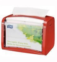 Acheter Distributeur table Tork N4 rouge serviettes enchevetrées