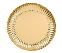 Acheter Assiette jetable or 18 cm colis de 250