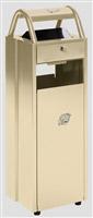 Acheter Cendrier corbeille extérieur 6 - 30 L ivoire