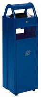 Acheter Cendrier corbeille extérieur 6 - 30 L bleu