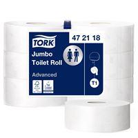 Acheter Papier toilette jumbo Tork Ecolabel blanc 380 m 2 plis colis de 6