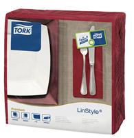 Acheter Serviette Tork Linstyle dinner bordeaux les 600