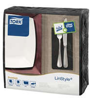 Acheter Serviette Tork Linstyle dinner noir les 600