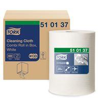 Acheter Chiffon non tissée Tork Premium 510 blanc bobine de 450 chiffons