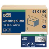 Acheter Chiffon non tissé blanc Tork Premium 510 carton de 8 x 55 chiffons