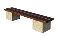 Acheter Banc d'extérieur arcade en bois et béton lavé auvergne