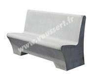 Acheter Banc d'extérieur Marly en béton lisse gris
