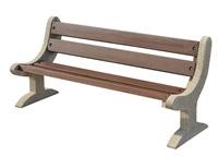 Acheter Banc d'extérieur Orly en béton lavé dordogne effet bois