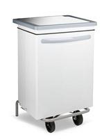 Acheter Poubelle cuisine blanche HACCP acier carénée 70 litres