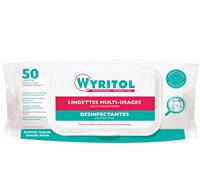 Acheter Wyritol lingettes désinfectantes EN14476 par 50