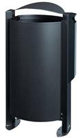 Acheter Poubelle cendrier sur pied exterieure 100L 3L Rossignol anthracite mat
