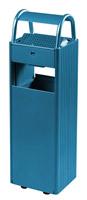 Acheter Cendrier Corbeille 6L / 30 Litres sur pied bleu
