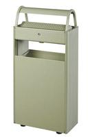 Acheter Cendrier corbeille exterieur 12 L / 60 L sur pied gris ciment