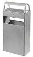 Acheter Cendrier extérieur corbeille 12 L / 60 L sur pied gris metal