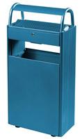 Acheter Cendrier corbeille exterieur 12 L / 60 L sur pied bleu