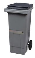 Acheter Conteneur déchet 2 roues 80 Litres gris barre ventrale