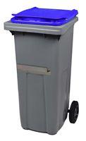 Acheter Conteneur déchets 2 roues 240 Litres couvercle bleu barre ventrale
