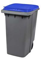 Acheter Conteneur à déchets 2 roues 340 litres couvercle bleu prise frontale