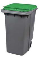 Acheter Conteneur à déchets 2 roues 340 litres couvercle vert prise frontale