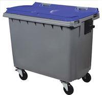 Acheter Conteneur roulant Rossignol 4 roues 660 litres bleu prise frontale
