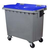 Acheter Conteneur à déchets 770 litres 4 roues CV bleu prise frontale
