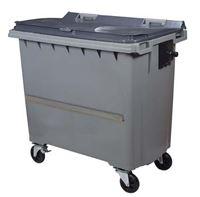 Acheter Conteneur à déchets 770 Litres 4 roues CV gris barre ventrale