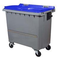 Acheter Conteneur à déchets 770 litres 4 roues CV bleu barre ventrale