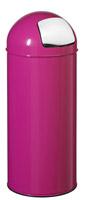 Acheter Poubelle obus 45L Rossignol rose avec trappe