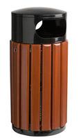 Acheter Poubelle bois exterieure Rossignol ronde 60 litres