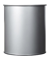 Acheter Corbeille papier 30L gris métal rossignol