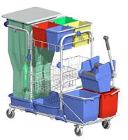 Acheter Chariot de menage lavage hospitalier =Dit526