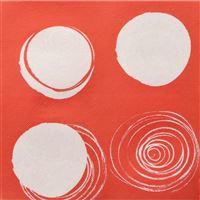 Acheter Serviette Celi Ouate 38 X 38 décor sixties rouge les 900