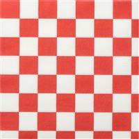 Acheter Serviette Celi Ouate 38 X 38 décor damier rouge les 900