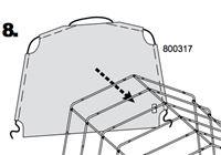 Acheter Panneau de fond garage Shelterlogic 62790/62697