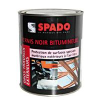 Acheter Spado vernis noir bitumineux bidon de 1L
