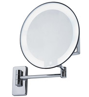 Acheter Miroir grossissant lumineux rond JVD cosmos chromé