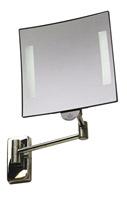 Acheter Miroir grossissant lumineux carré JVD Galaxy chrome tube