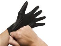 Acheter Gant jetable nitrile noir non poudré par 100