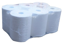 Acheter Bobine essuie mains blanc 120 m 2 plis distributeur automatique par 6
