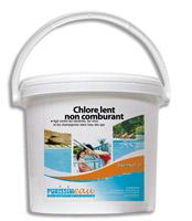 Chlore lent galet 200 grs produit piscine seau 10 kg