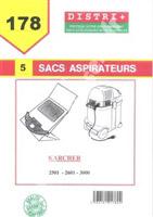 Acheter Sac aspirateur Karcher K2501 k2601 k3001 3001PLUS NT181 PUZZI90 212OME