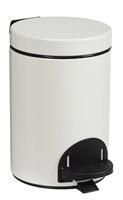 Acheter poubelle à pédale métal 3L blanc rossignol sanelia