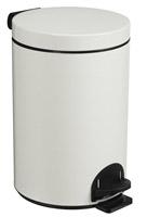 Acheter poubelle à pédale métal 14L blanc rossignol sanelia
