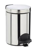 Acheter poubelle à pédale métal 3L inox rossignol sanelia