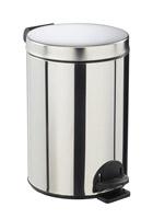 Acheter poubelle à pédale métal 14L inox rossignol sanelia