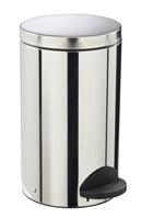 Acheter poubelle à pédale métal 20L inox rossignol sanelia